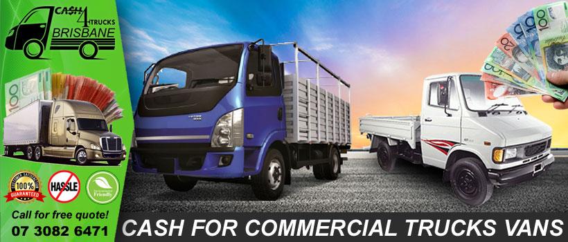 Cash for Commercial Trucks Vans